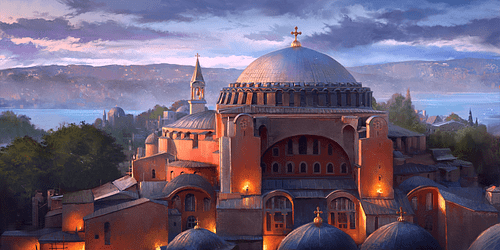 Painting of Hagia Sophia