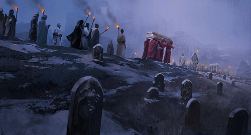 Royal Funerary Procession in the Middle Ages
