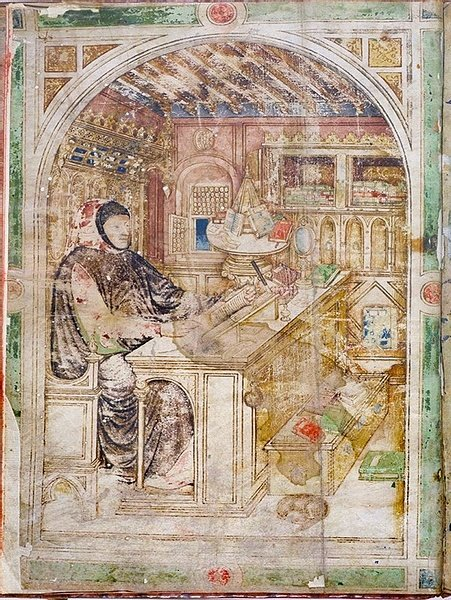 Petrarch at his Study