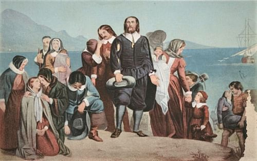 Landing of the Pilgrims by Charles Lucy