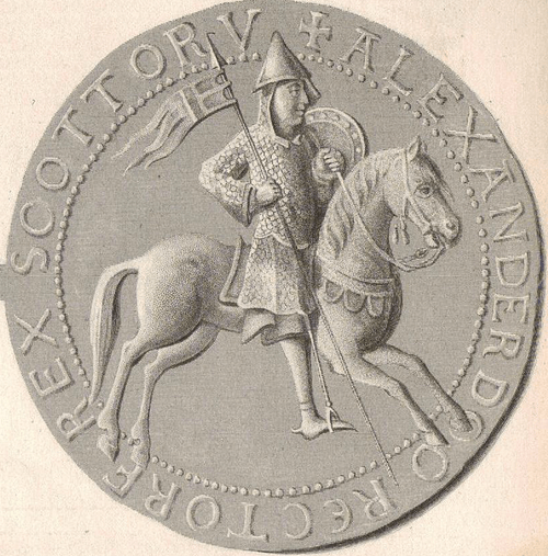 Seal of Alexander I of Scotland (by Unknown Artist, Public Domain)