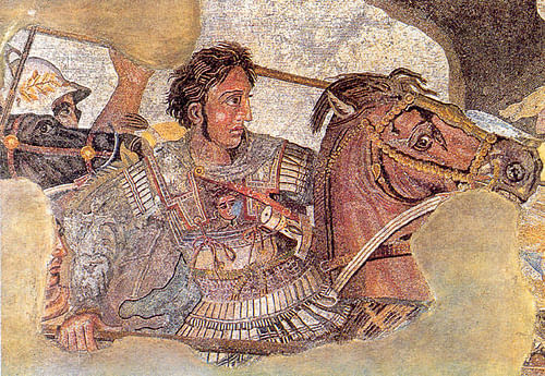 Alexander the Great & Bucephalus Mosaic (by Ruthven, Public Domain)