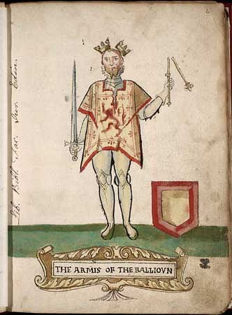 John Balliol, King of Scotland (by Unknown Artist, Public Domain)