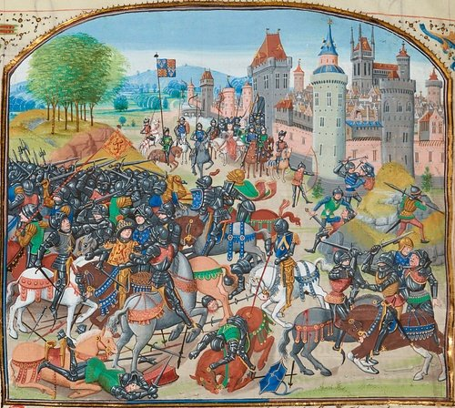 Battle of Neville's Cross (by Jean Froissart, Public Domain)