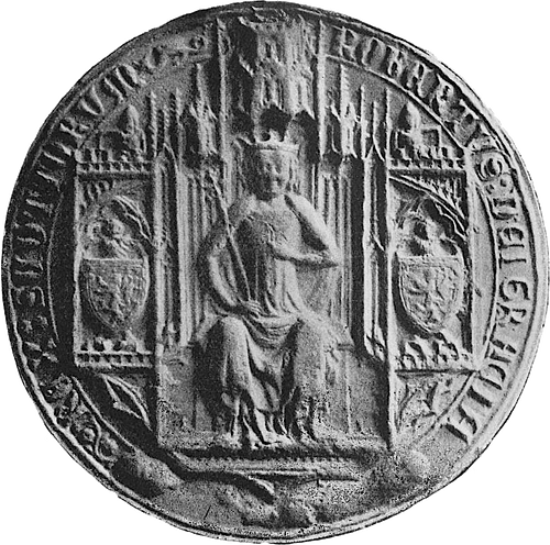 Seal of Robert II of Scotland (by Unknown Artist, Public Domain)