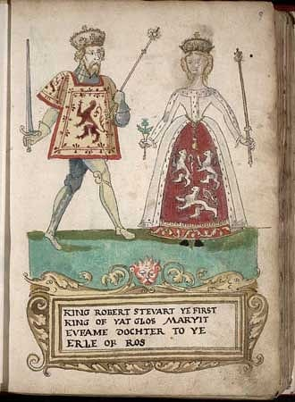 Robert II of Scotland & Queen Euphemia