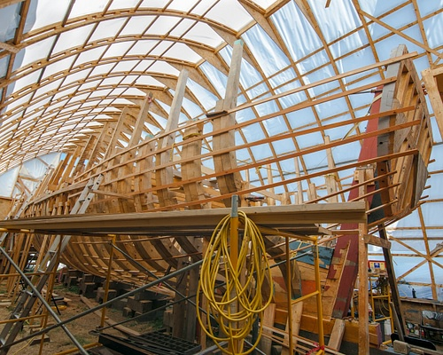Virginia of Sagadahoc Being Reconstructed