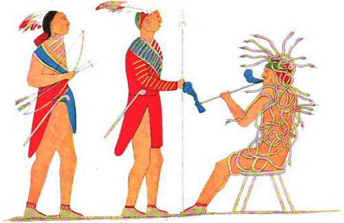 Tadodaho Receiving Two Mohawk Chieftains