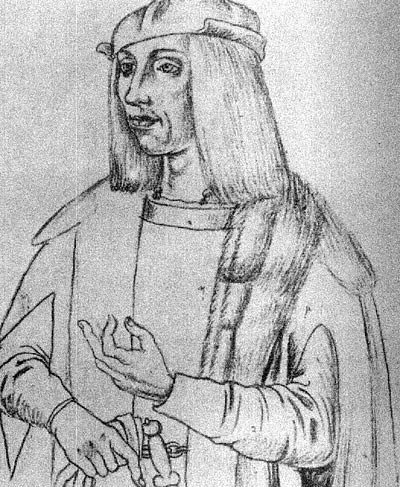 Sketch Portrait of James IV of Scotland