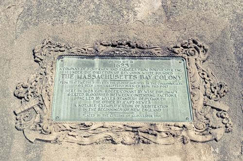 Massachusetts Bay Colony Plaque (by jpitha, CC BY-SA)