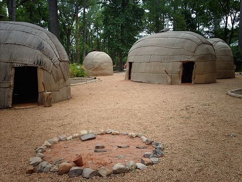 Reconstructed Powhatan Village