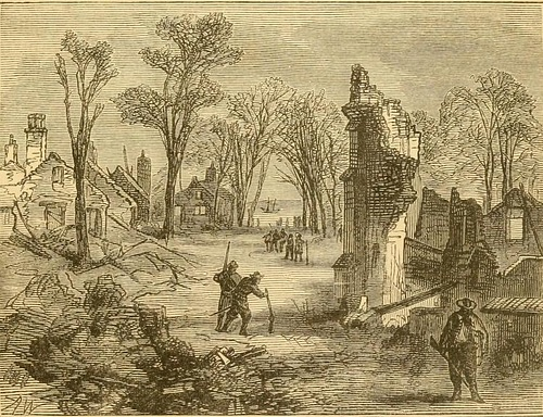 Ruins of Jamestown after Bacon's Rebellion