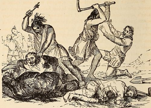 Jamestown Massacre, 1622 (by Internet Archive Book Images, Public Domain)