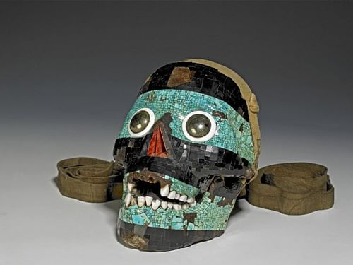 Tezcatlipoca Turquoise Skull (by Trustees of the British Museum)