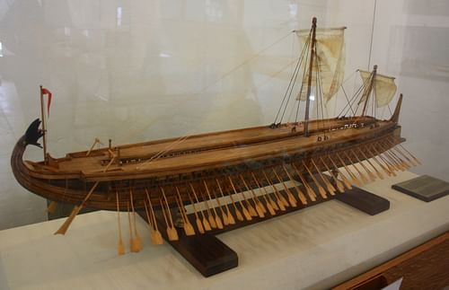 Greek Trireme Model (by Mark Cartwright, CC BY-NC-SA)