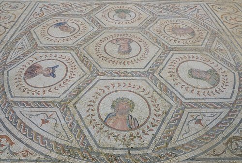Mosaic with Busts of the Planetary Deities, Italica (Spain)