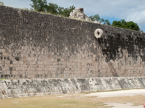 Ball Court Wall & Goal, Chichen Itza