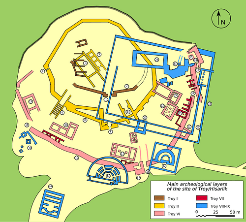 Map Of Troy Troy   Ancient History Encyclopedia