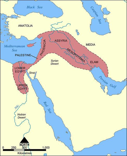 Map of the Fertile Crescent