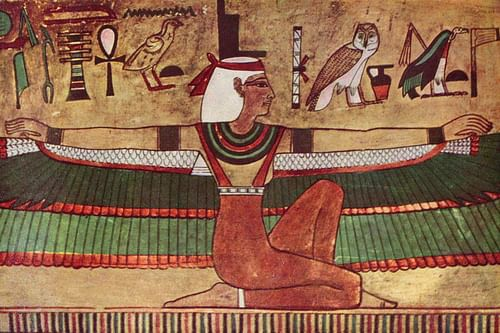 In ancient egyptian art, the pharaoh was almost always depicted in this way:
