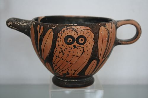 Red-Figure Owl Cup