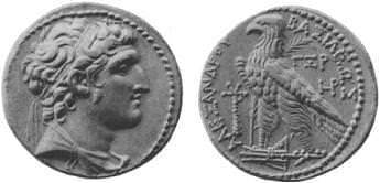 Coin of Alexander Balas (by Wikipedia, Public Domain)