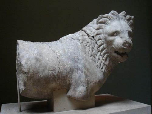 Lion from the Mausoleum at Halicarnassus (by Bigdaddy1204, Public Domain)