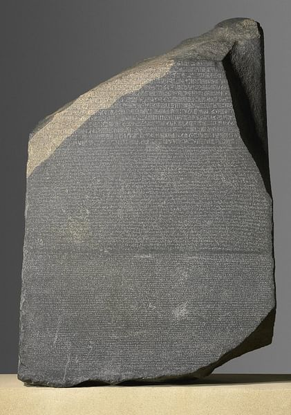 Rosetta Stone (by Trustees of the British Museum, Copyright)