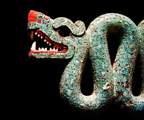 Aztec Double-Headed Serpent (Detail) (by Neil Henderson, CC BY)