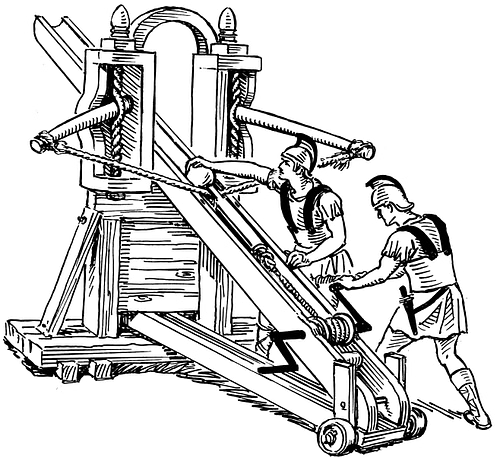 Roman Stone-throwing Carroballista