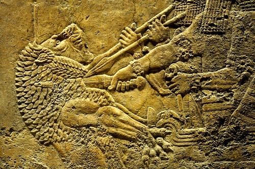 Lion-hunting Scene, King Ashurbanipal (by )
