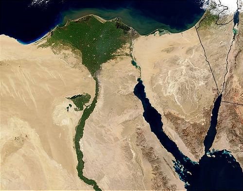 Nile Delta (by Jacques Descloitres (NASA), CC BY-NC-SA)