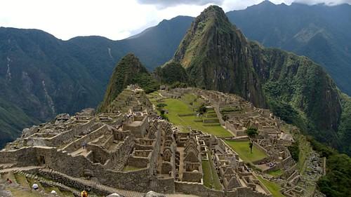 Vista aérea de Machu Picchu