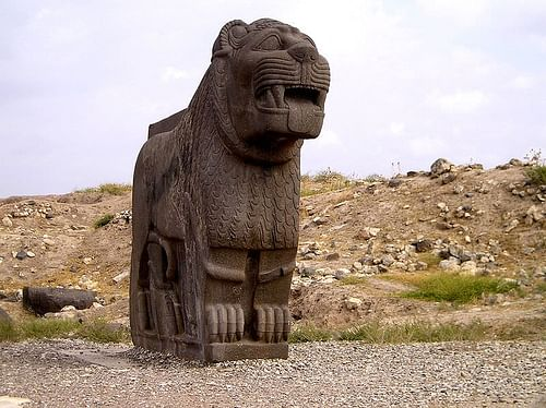 Syrian Lion Statue