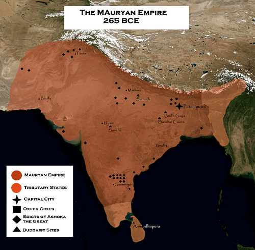 Mauryan Empire (by Keeby101, CC BY-NC-SA)