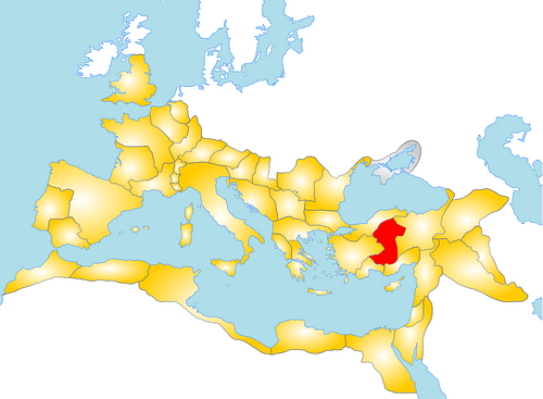 Map of the Roman Province of Galatia (by Andrei nacu, Public Domain)