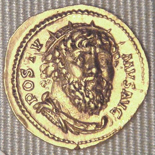 Coin Depicting Roman Emperor Postumus