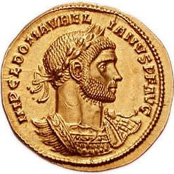 Coin Depicting Roman Emperor Aurelian