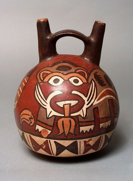 Nazca Double-spouted Pot (by Wikipedia _User: Fae)