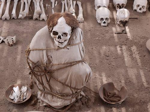 Paquete de momias andinas antiguas