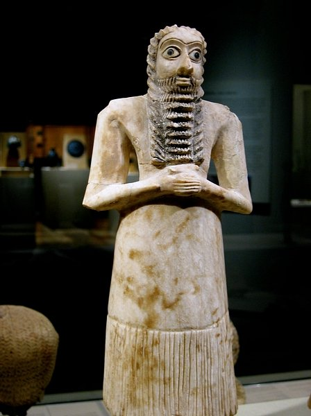 Mesopotamian Male Worshiper Votive Figure