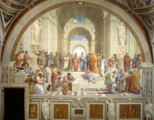 The School of Athens by Raphael (by Raphael, Public Domain)