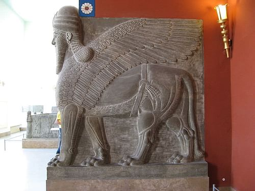 Shedu-Lamassu from the Palace of Tukulti-Ninurta I (by Gryffindor, Public Domain)