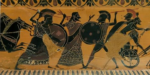 Scene from the Shield of Hercules