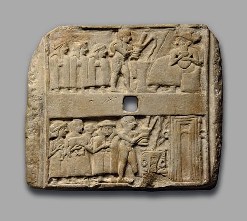 A Sumerian Wall Plaque Showing Libation Scenes