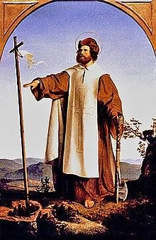 St. Boniface (Der heilige Bonifatius) (by Wikipedia User: Jdsteakley, Public Domain)