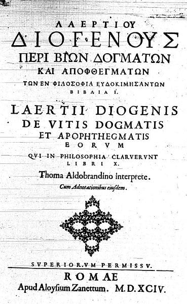 Diogenes Laërtius: Lives and Opinions of Eminent Philosophers