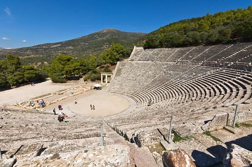 Theatre of Epidaurus Panorama (by PanosKarapanagiotis, Copyright)