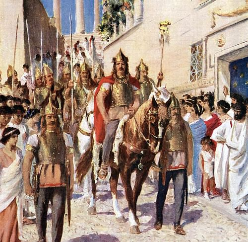 Alaric Entering Athens (by Unknown, Public Domain)
