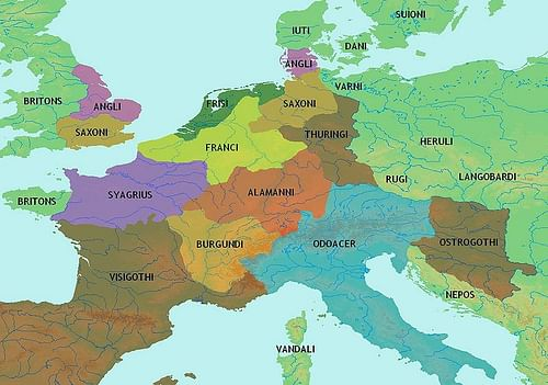 Central Europe 5th century CE